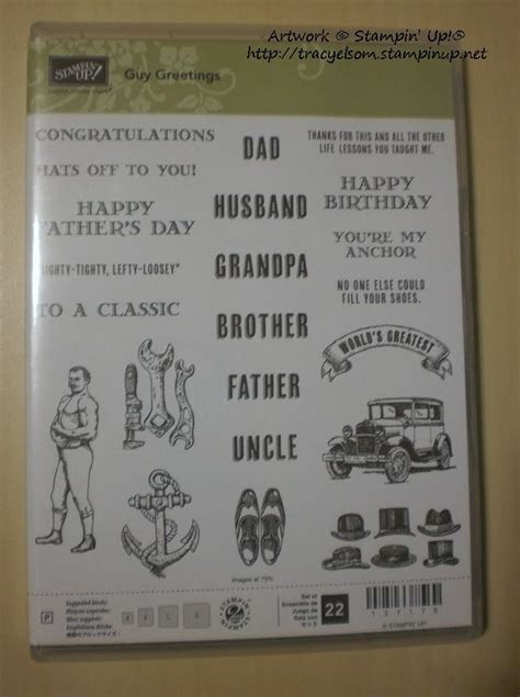 Guy Greetings stamp set from the Stampin' Up! 2015