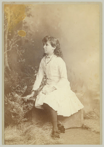 Cabinet Card - Girl on bench