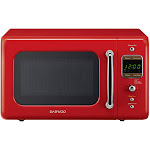 Daewoo Retro 700W Countertop Microwave - 0.7 cu ft - Pure Red