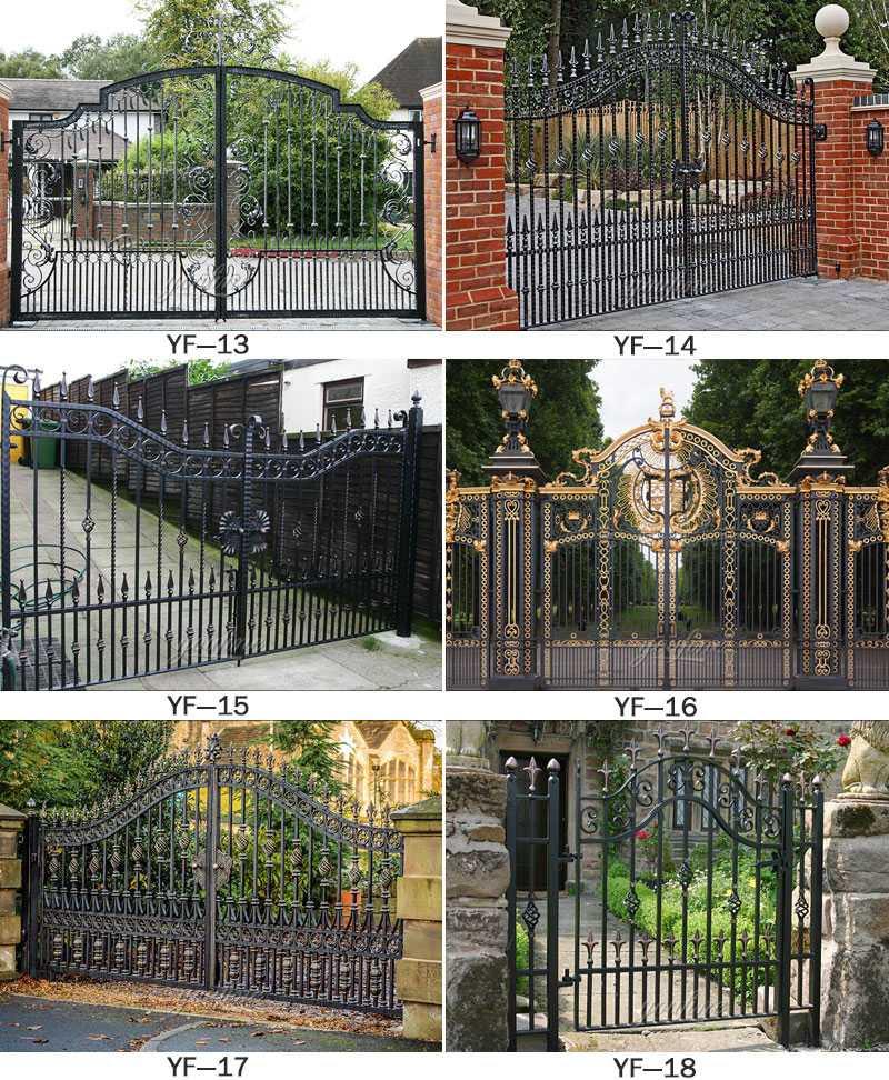 Modern large sliding garden gate design wrought iron ...