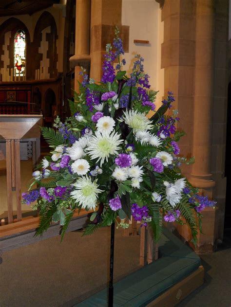 Pedestal Arrangement   floral art   Flower arrangements