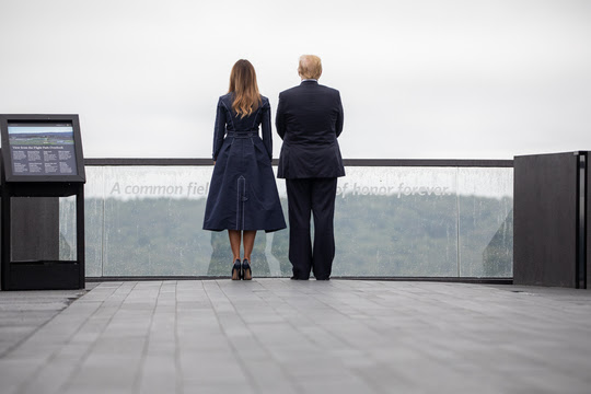 President Donald J. Trump and First Lady Melania Trump participate in the Flight 93 September 11 Memorial Service