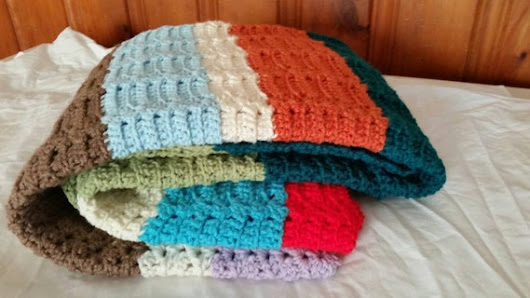 Stripe blanket throw baby blanket beach throw by KaristaMoon