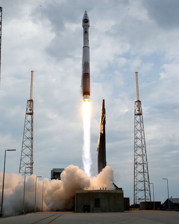 The LUNAR RECONNAISSANCE ORBITER (or LRO) is launched from Cape Canaveral Air Force Station in Florida on June 18, 2009.