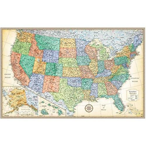 Google Express Rand McNally Classic United States Wall Map Laminated - United states wall map laminated