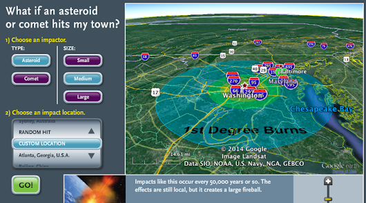 These calculators let you see what would happen if an asteroid hit Earth