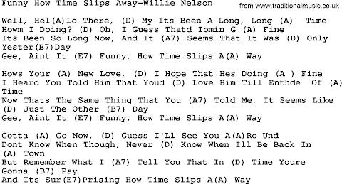 Funny How Time Slips Away Lyrics Willie Nelson