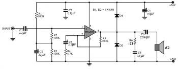 TDA2030 : 15W OTL Audio Amplifier Circuit « Audio Circuit