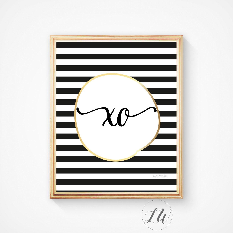 Love wall printable Xo artKisses and hugs Kiss by LoveWonderPrints