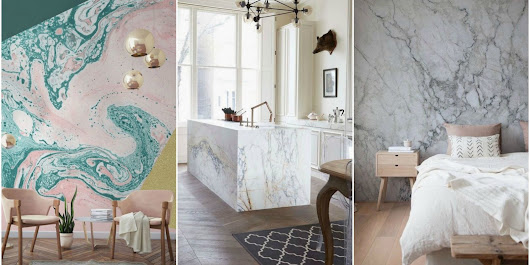 Marble interiors is trending on Pinterest and they're beautiful