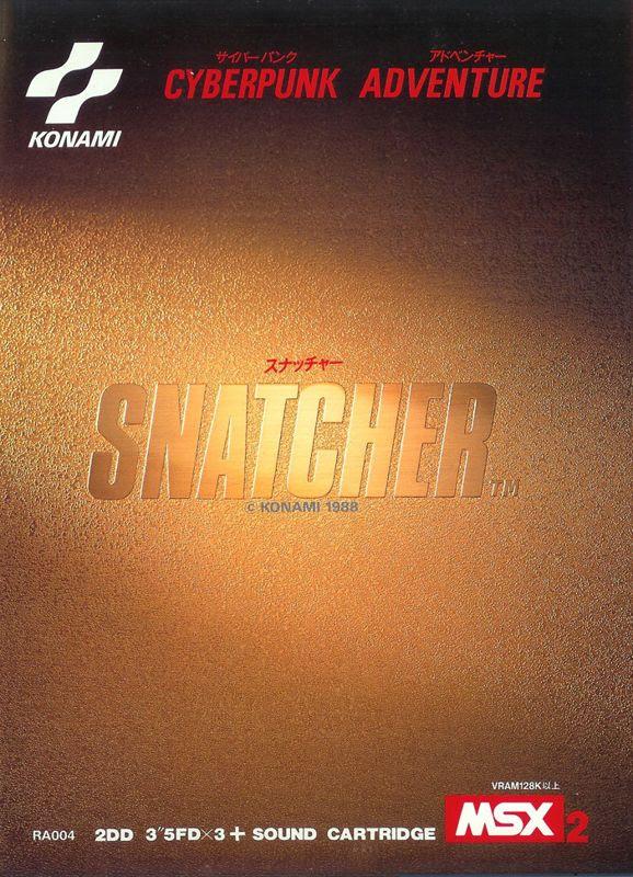 Resultado de imagen de snatcher msx cover