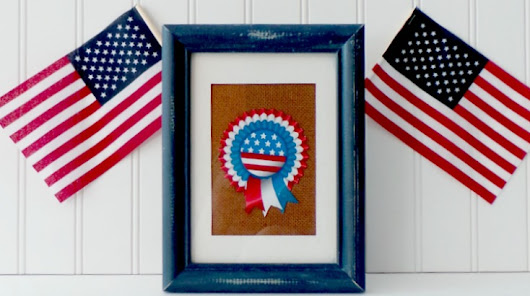 Simple Patriotic Decor Project - Ava's Alphabet