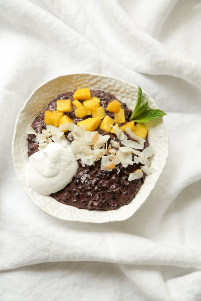 Thai Coconut Black Rice Pudding   Nutrition Stripped