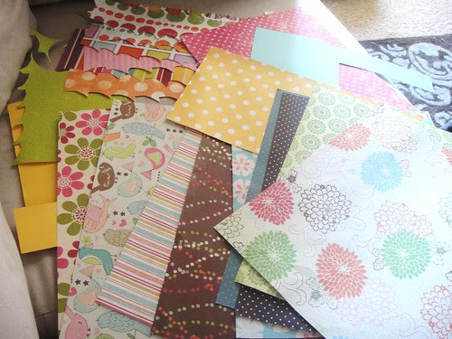 Scraps for Scrapbook paper tree
