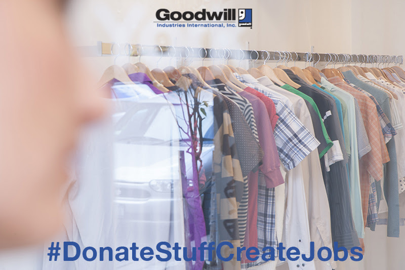 Donate to Goodwill, Create Jobs #DonateStuffCreateJobs