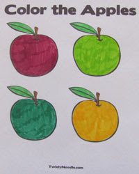 Apple Coloring Pages - Blog - Twisty Noodle