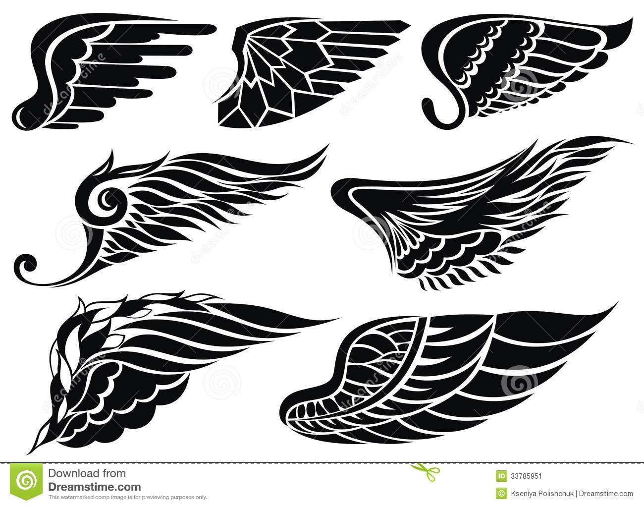 Tribal Eagle Wings Designs