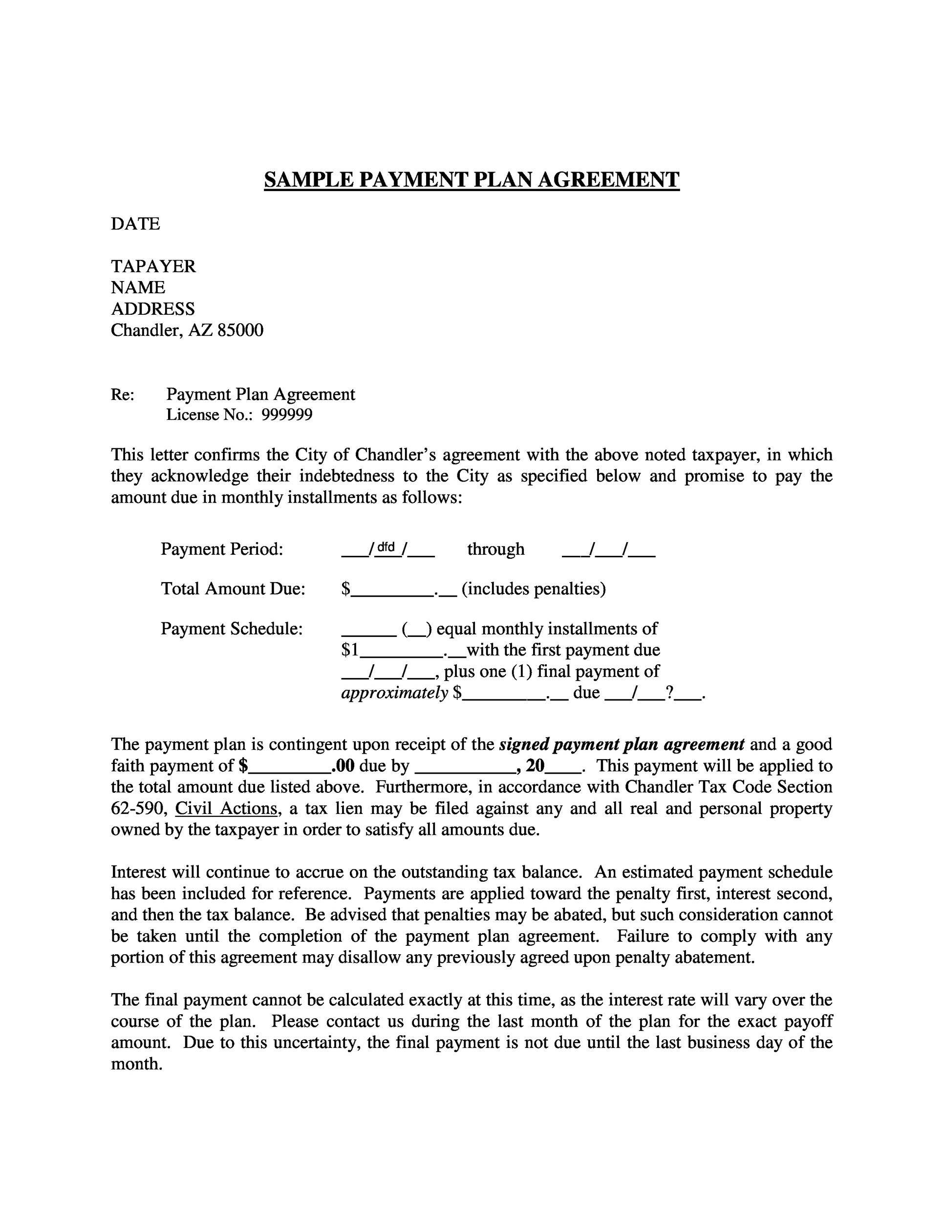 payment agreement template 02