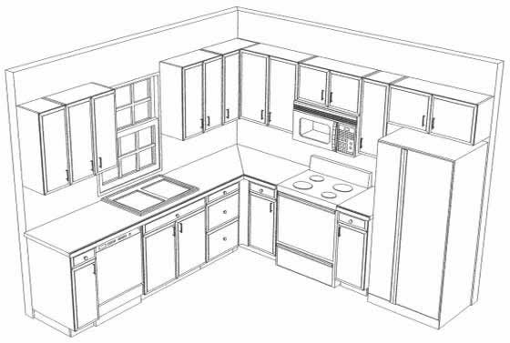 L Shaped Kitchen Layouts L Shaped Kitchen Cabinet Design with ...