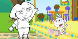 Dora Ve Diego Boyama Oyunu