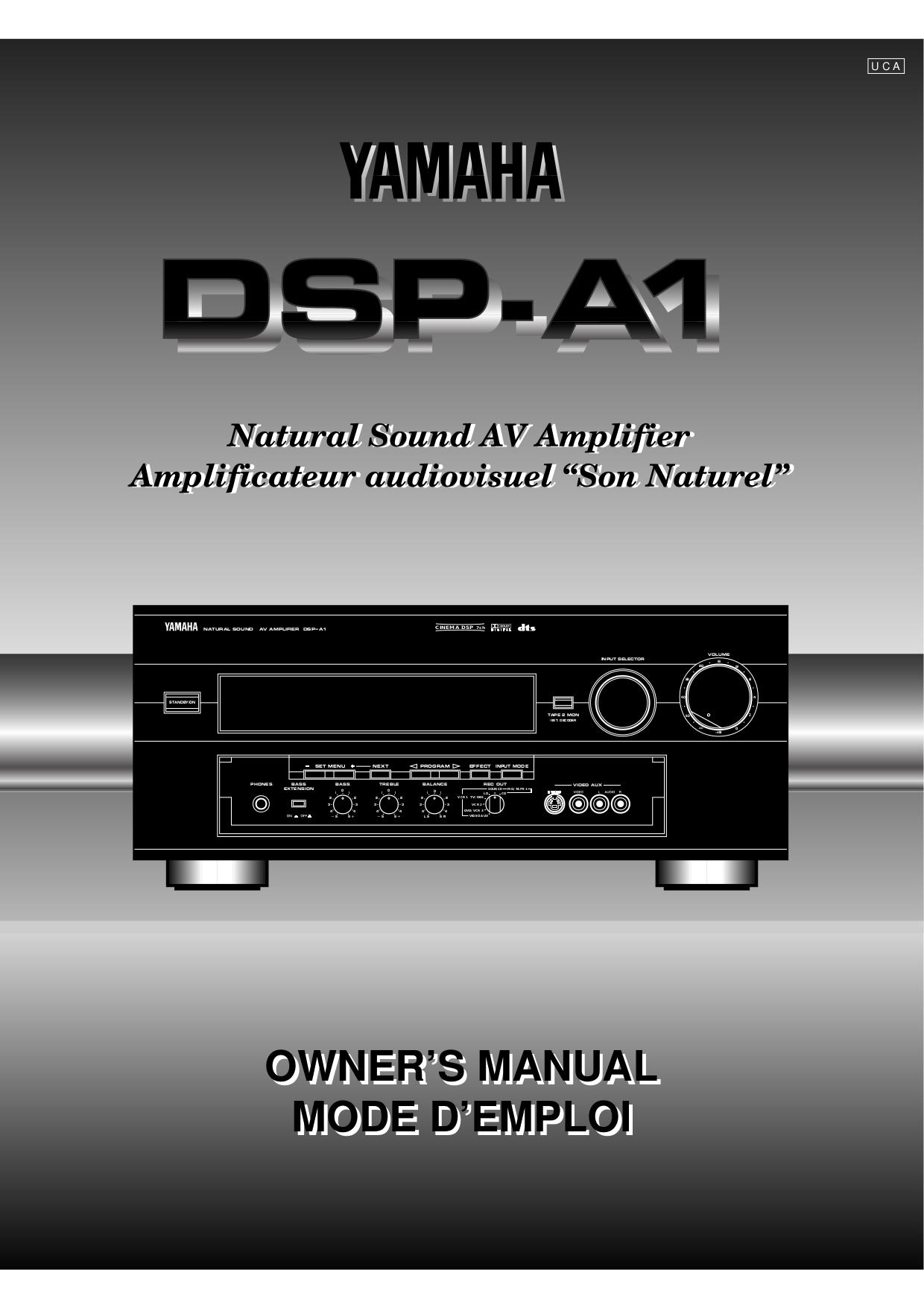 Download Free Pdf For Yamaha Dsp A1 Amp Manual