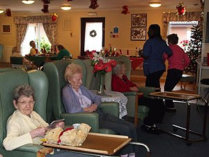 English: Christmas Day in a nursing home Noon ...