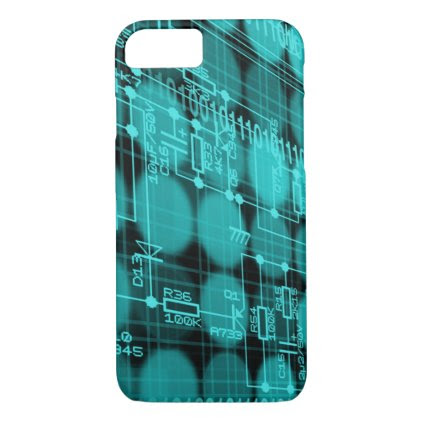 IT programmer high tech computer circuit board iPhone 7 Case
