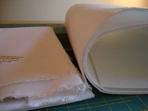 Pam's medium weight sew in interfacing, and peltex