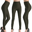 Lady Women Faux Leather High Waist Tights Pants Leggings
