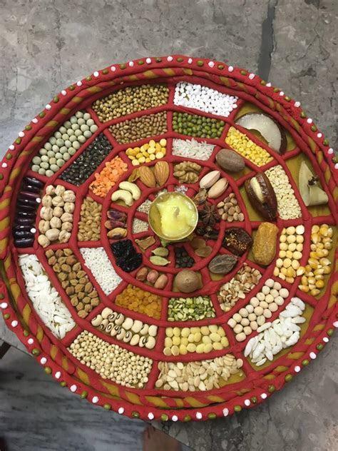 ChhapanBhog Aarti Thali decoration   Idea   Pinterest