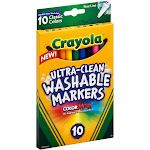 Crayola Ultra Clean Classic Fine Line Markers - 10 count