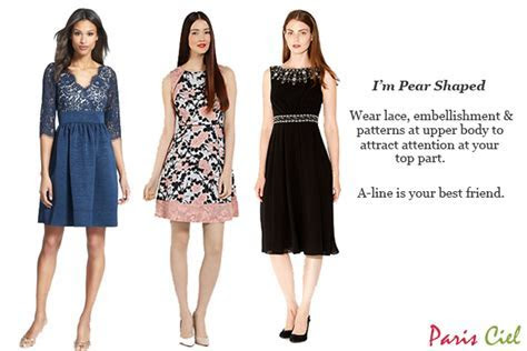 Wear lace, embellishment and patterns at upper body to