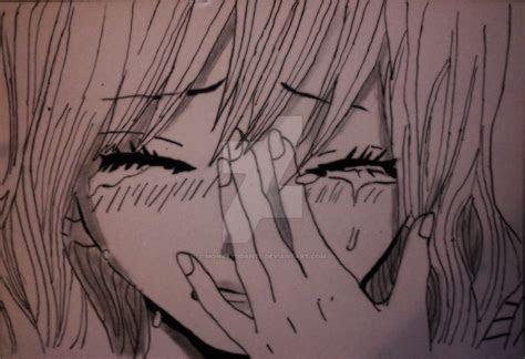 sad anime girl crying  monkeyddante  deviantart