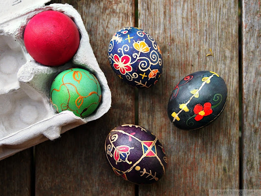 Ukrainian Easter Eggs and Being A Mess