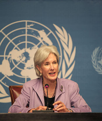 Kathleen Sebelius, Secretary of Health and Hum...