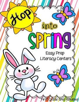 http://www.teacherspayteachers.com/Product/Hop-Into-Spring-Easy-Prep-Literacy-Centers-651293