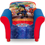 Delta Children Nick Jr. Paw Patrol Upholstered Toddler Chair with Side Pockets by VM Express