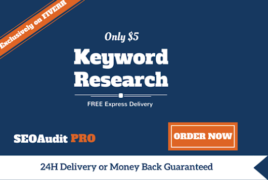 seoauditpro : I will provide an EXTENSIVE Seo Keyword Research for Your Business for $5 on www.fiverr.com