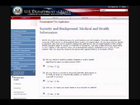 Us Visa Ds 160 Form Filling Guidance Youtube