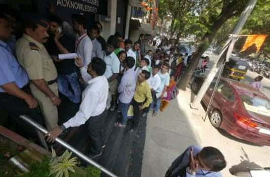 currency demontisation: Longer queues at banks, Hyderabad ATMs still run dry | Hyderabad News - Times of India