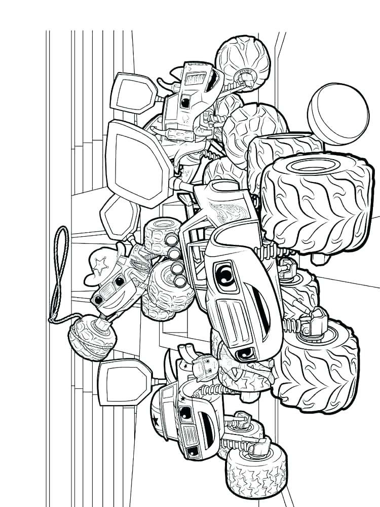 Blaze And The Monster Machines Coloring Pages To Print at ...