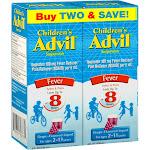 Advil Oral Suspension, Grape-flavored, Fever, Children, Liquid - 2 boxes, 4 fl oz