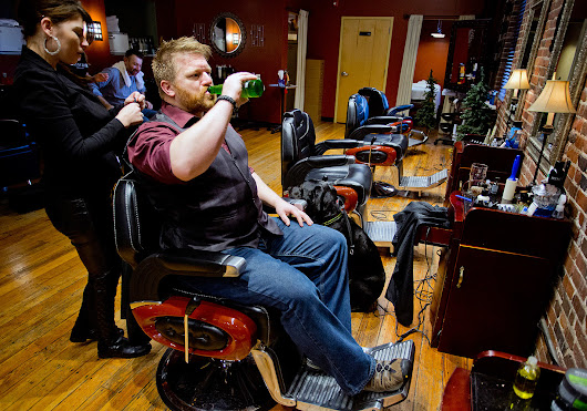 In Portland's growing manscape, salons offer much more than a shave and a haircut - The Portland Press Herald / Maine Sunday Telegram