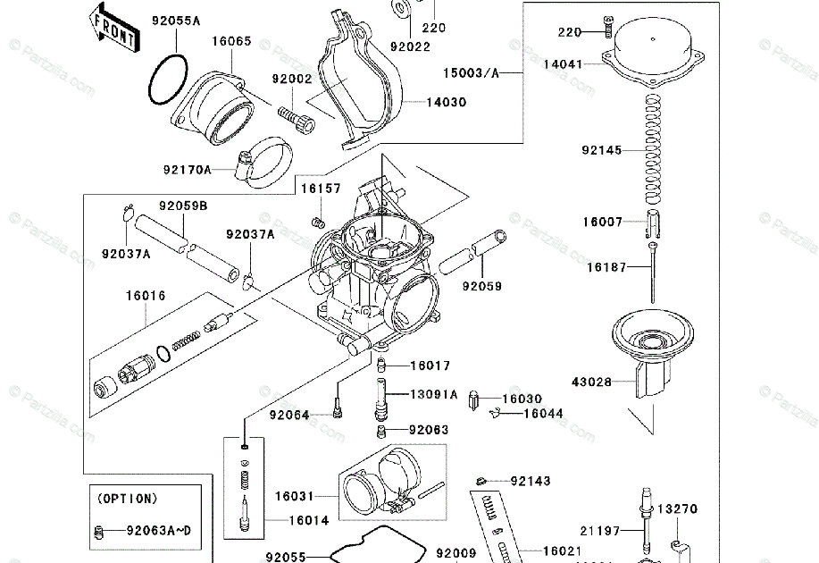 Wiring Diagram Database: Kawasaki Prairie 360 Carburetor