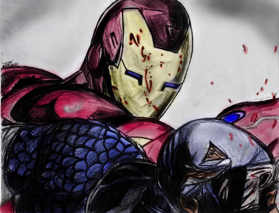 Color Iron Man vs Captain America Color by Smith-Of-Blades ...