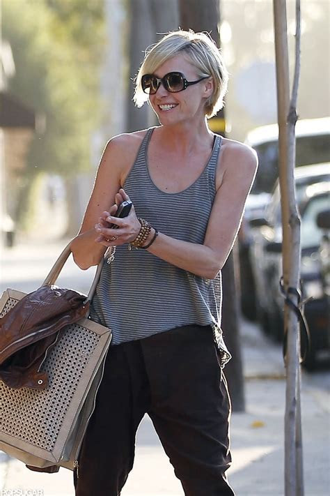 Portia de Rossi laughed with Cameron Diaz leaving the hair