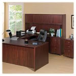 Lorell LLR69398 Pedestal- Box-Hanging File- 16in.x22in.x28-.25in.- Mahogany