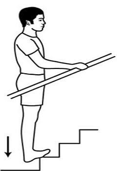 exercicio panturrilha degrau escada