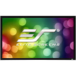 "Elite Screens ER100WH2 Sable Fixed Frame 2 Series 100"" Projector Screen with CineWhite Material"
