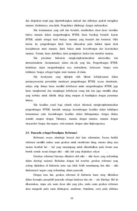 Makalah Pancasila sebagai Paradigma Pembangunan Nasional